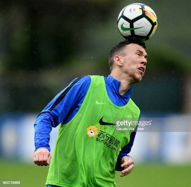 Ivan Perisic of FC Internazionale in action during the FC Internazionale training session at the club's training ground Suning Training Center in...
