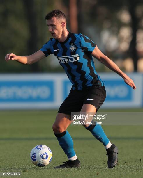 Ivan Perisic of FC Internazionale in action during the PreSeason Friendly match between FC Internazionale and Lugano at the club's training ground...