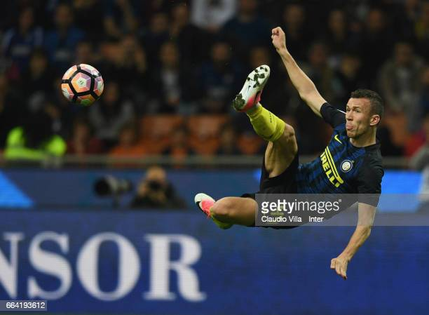 Ivan Perisic of FC Internazionale in action during the Serie A match between FC Internazionale and UC Sampdoria at Stadio Giuseppe Meazza on April 3...