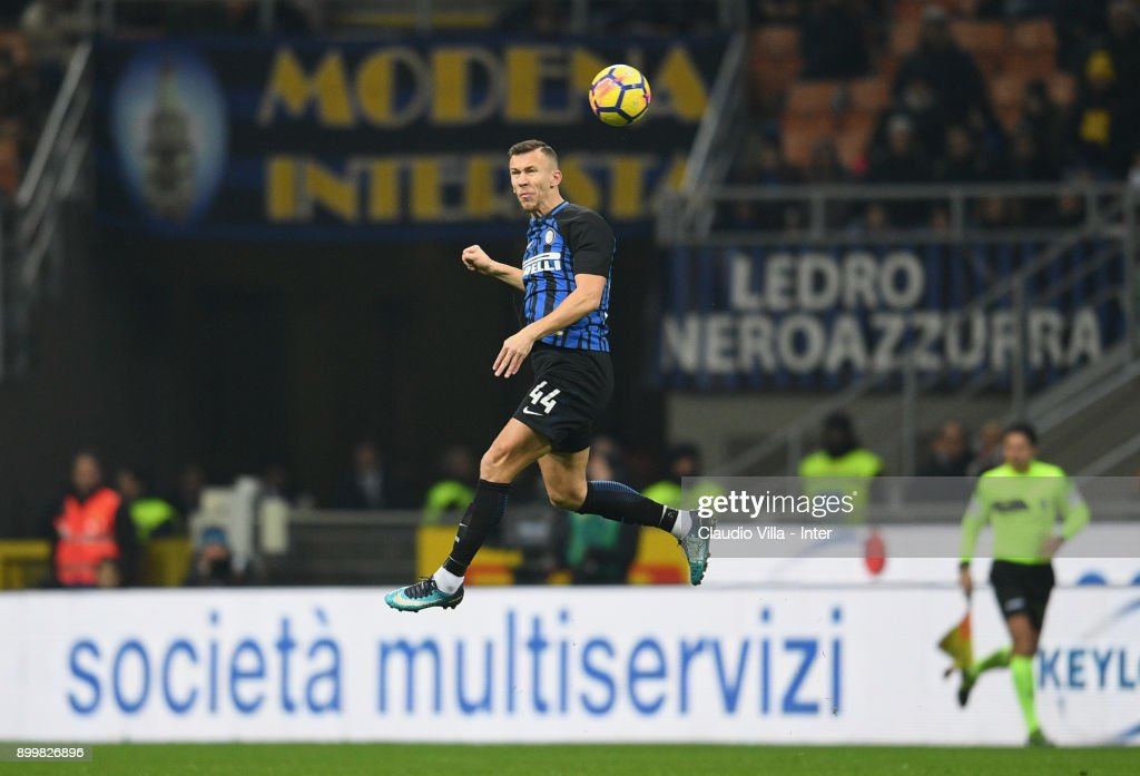 Ivan Perisic of FC Internazionale in action during the serie A match between FC Internazionale and SS Lazio at Stadio Giuseppe Meazza on December 30, 2017 in Milan, Italy.