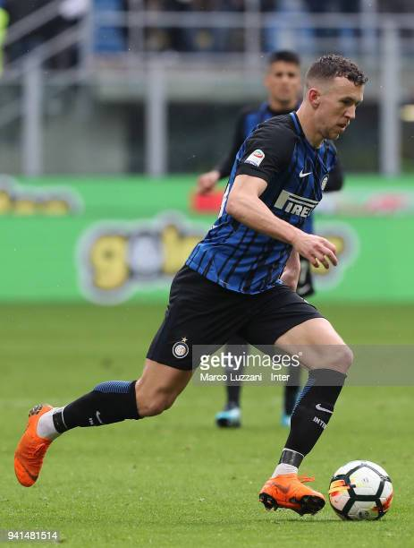 Ivan Perisic of FC Internazionale in action during the serie A match between FC Internazionale and Hellas Verona FC at Stadio Giuseppe Meazza on...