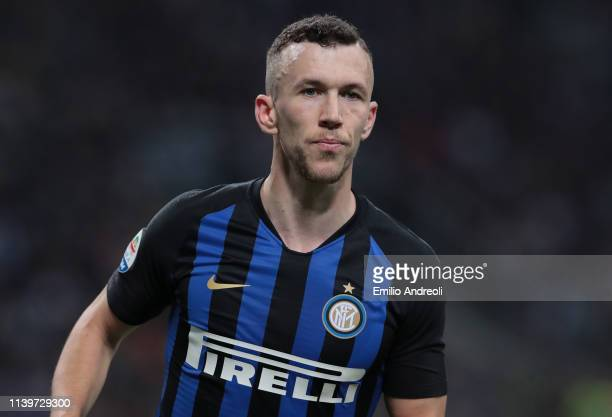 Ivan Perisic of FC Internazionale looks on during the Serie A match between FC Internazionale and Juventus at Stadio Giuseppe Meazza on April 27,...