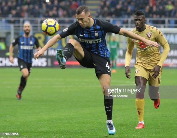 Ivan Perisic of FC Internazionale Milano controls the ball during the Serie A match between FC Internazionale and Torino FC at Stadio Giuseppe Meazza...