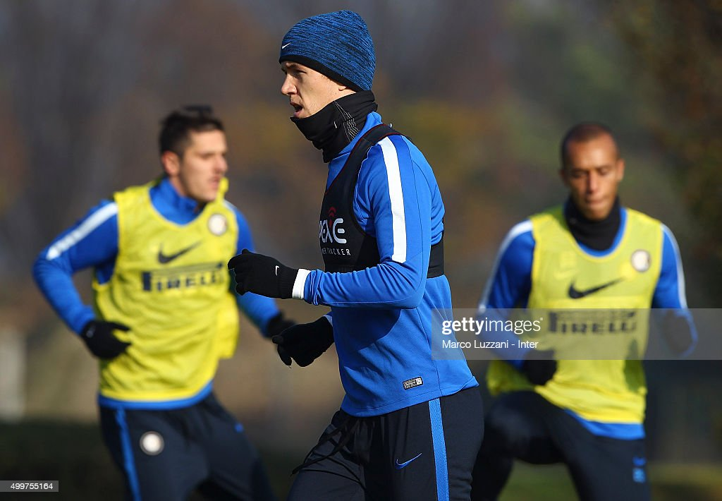 Ivan Perisic of FC Internazionale Milano trains during the FC Internazionale training session at the club's training ground on December 3, 2015 in Appiano Gentile Como, Italy.