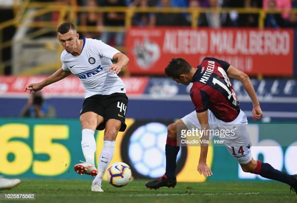 Ivan Perisic of FC Internazionale scores the third goal of his team during the serie A match between Bologna FC and FC Internazionale at Stadio...