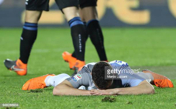 Ivan Perisic of FC Internazionale shows his dejection during the serie A match between Atalanta BC and FC Internazionale at Stadio Atleti Azzurri...