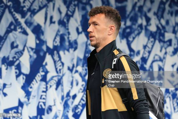 Ivan Perisic of Inter Milan arrives during the 2019 International Champions Cup match between Tottenham Hotspur and FC Internazionale at Tottenham...