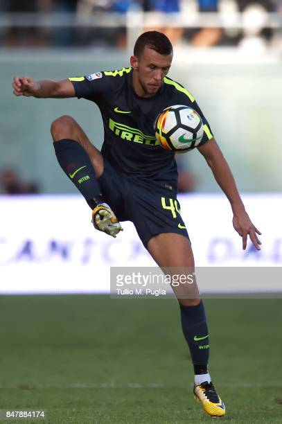 Ivan Perisic of Internazionale in action during the Serie A match between FC Crotone and FC Internazionale at Stadio Comunale Ezio Scida on September...
