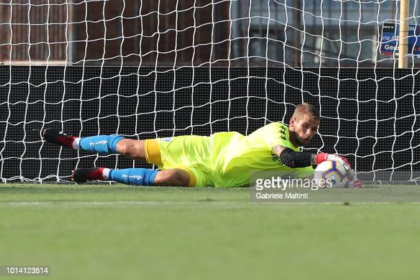 Ivan Provedel of Empoli Fc in action during preseason friendly match between Empoli FC ans Empoli U19 on August 9 2018 in Empoli Italy