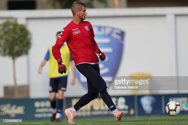 Ivan Provedel of Empoli FC in action during training session on September 18 2018 in Empoli Italy