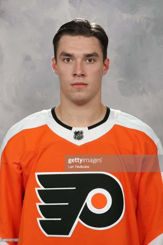 Ivan Provorov of the Philadelphia Flyers poses for his official headshot for the 2017-2018 season on September 14, 2017 at the Virtua Flyers Skate Zone in Voorhees, New Jersey.