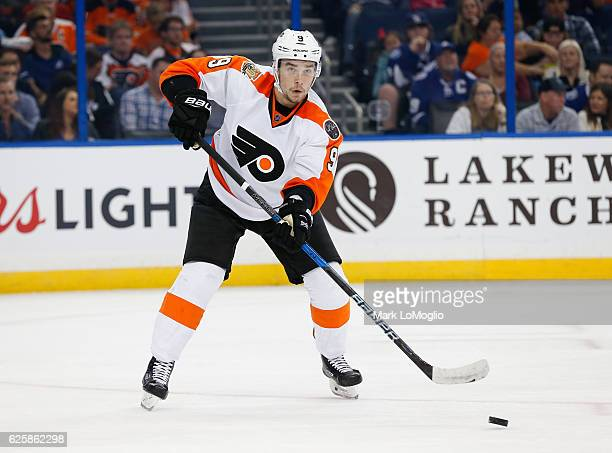 Ivan Provorov of the Philadelphia Flyers skates during the second period against the Tampa Bay Lightning at Amalie Arena on November 23 2016 in Tampa...