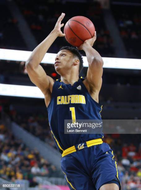 Ivan Rabb of California Golden Bears handles the ball against the Utah Utes during a quarterfinal game of the Pac12 Basketball Tournament at TMobile...