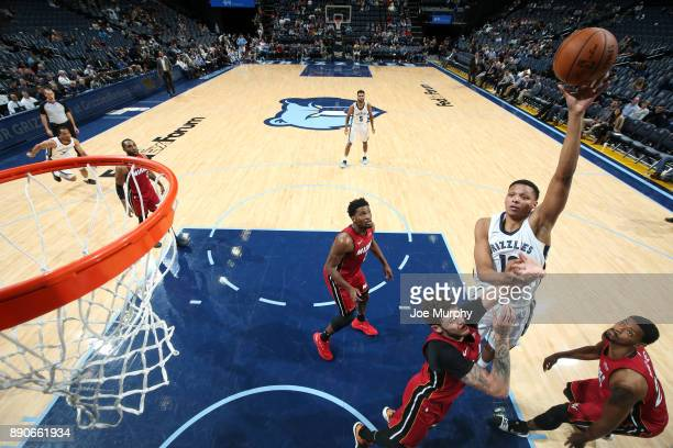 Ivan Rabb of the Memphis Grizzlies goes to the basket against the Miami Heat on December 11 2017 at FedExForum in Memphis Tennessee NOTE TO USER User...