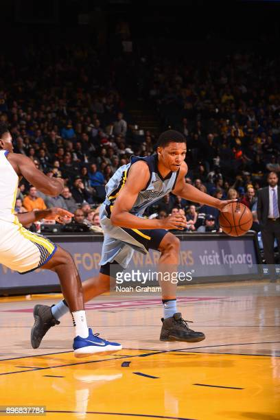 Ivan Rabb of the Memphis Grizzlies handles the ball against the Golden State Warriors on December 20 2017 at ORACLE Arena in Oakland California NOTE...