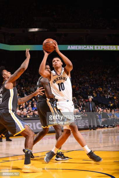 Ivan Rabb of the Memphis Grizzlies handles the ball against the Golden State Warriors on December 30 2017 at ORACLE Arena in Oakland California NOTE...