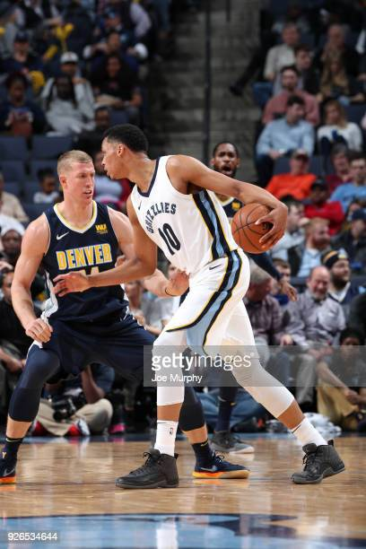Ivan Rabb of the Memphis Grizzlies htb against the Denver Nuggets on March 2 2018 at FedExForum in Memphis Tennessee NOTE TO USER User expressly...