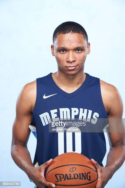Ivan Rabb of the Memphis Grizzlies poses for a photo during the 2017 NBA Rookie Shoot on August 11 2017 at the Madison Square Garden Training Center...