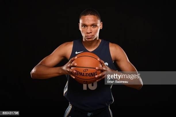 Ivan Rabb of the Memphis Grizzlies poses for a photo during the 2017 NBA Rookie Photo Shoot at MSG training center on August 11 2017 in Tarrytown New...