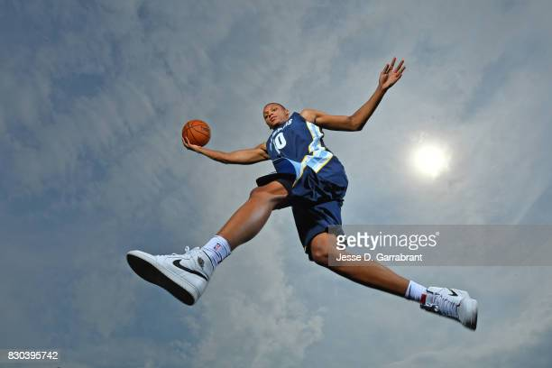 Ivan Rabb of the Memphis Grizzlies poses for a portrait during the 2017 NBA rookie photo shoot on August 11 2017 at the Madison Square Garden...