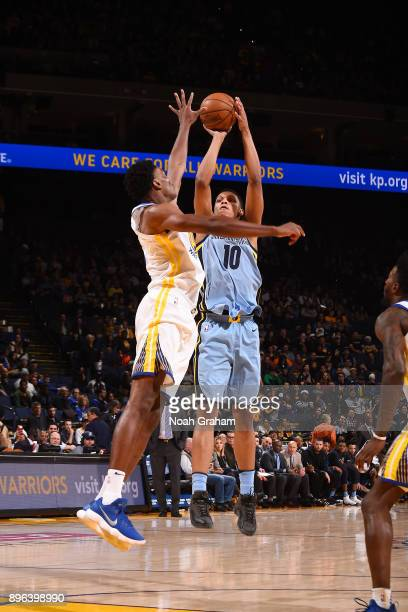 Ivan Rabb of the Memphis Grizzlies shoots the ball against the Golden State Warriors on December 20 2017 at ORACLE Arena in Oakland California NOTE...