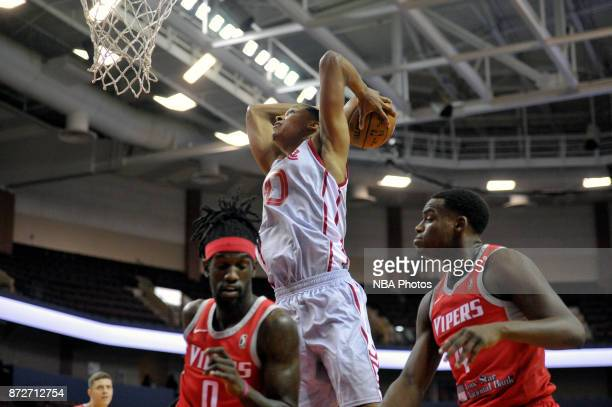 Ivan Rabb of the Memphis Hustle dunks against the Rio Grande Valley Vipers during an NBA GLeague game on November 10 2017 at Landers Center in...