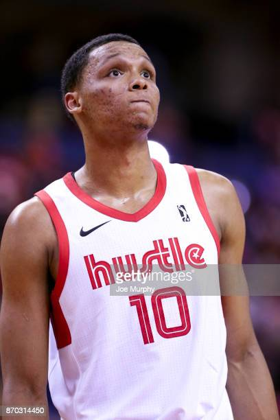 Ivan Rabb of the Memphis Hustle looks on against the Sioux Falls Skyforce during an NBA GLeague game on November 4 2017 at Landers Center in...