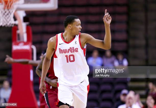 Ivan Rabb of the Memphis Hustle reacts against the Sioux Falls Skyforce during an NBA GLeague game on November 4 2017 at Landers Center in Southaven...