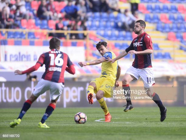 Ivan Radovanovic of AC Chievo Verona in action during the Serie A match between Bologna FC and AC ChievoVerona at Stadio Renato Dall'Ara on March 19...