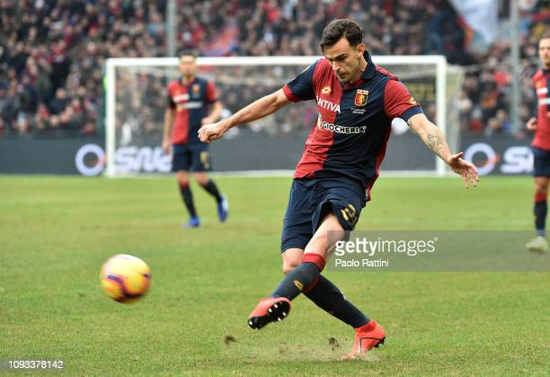 Ivan Radovanovic of Genoa CFC during the Serie A match between Genoa CFC and US Sassuolo at Stadio Luigi Ferraris on February 3 2019 in Genoa Italy