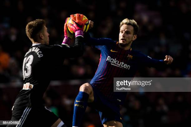 Ivan Rakitic from Croatia of FC Barcelona during the La Liga match between FC Barcelona v Celta de Vigo at Camp Nou Stadium on December 2 2017 in...
