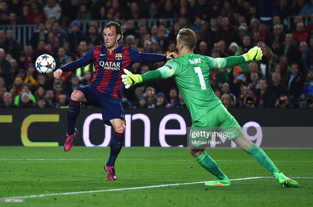 FC Barcelona v Manchester City - UEFA Champions League Round of 16 : News Photo