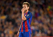 barcelona spain ivan rakitic barcelona reacts