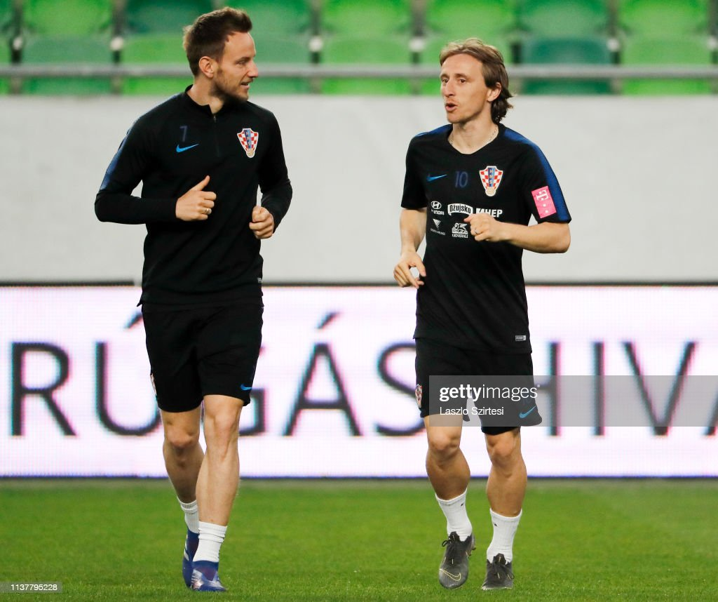 Croatia Press Conference and Training Session : News Photo