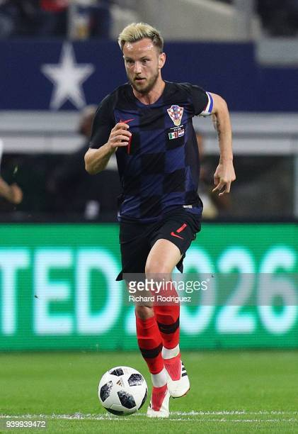 Ivan Rakitic of Croatia drives the ball down the field during an international friendly soccer match against Mexico at ATT Stadium on March 27 2018...