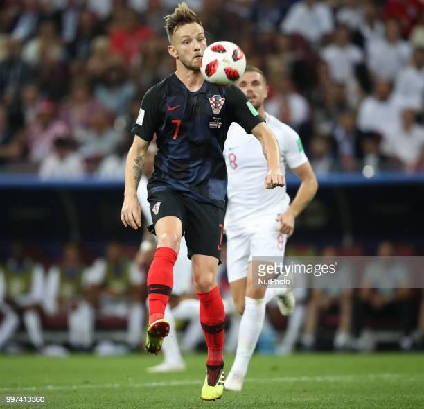 Ivan Rakitic of Croatia during the 2018 FIFA World Cup Russia Semi Final match between England and Croatia at Luzhniki Stadium on July 11 2018 in...
