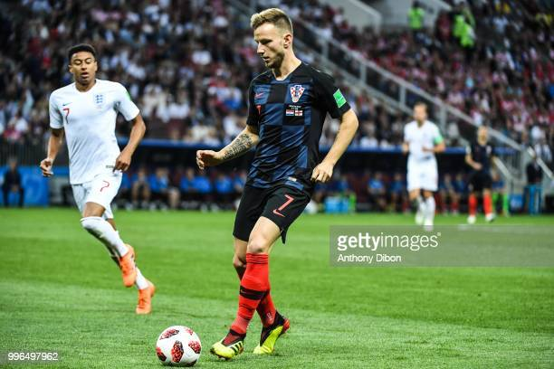 Ivan Rakitic of Croatia during the Semi Final FIFA World Cup match between Croatia and England at Luzhniki Stadium on July 11 2018 in Moscow Russia