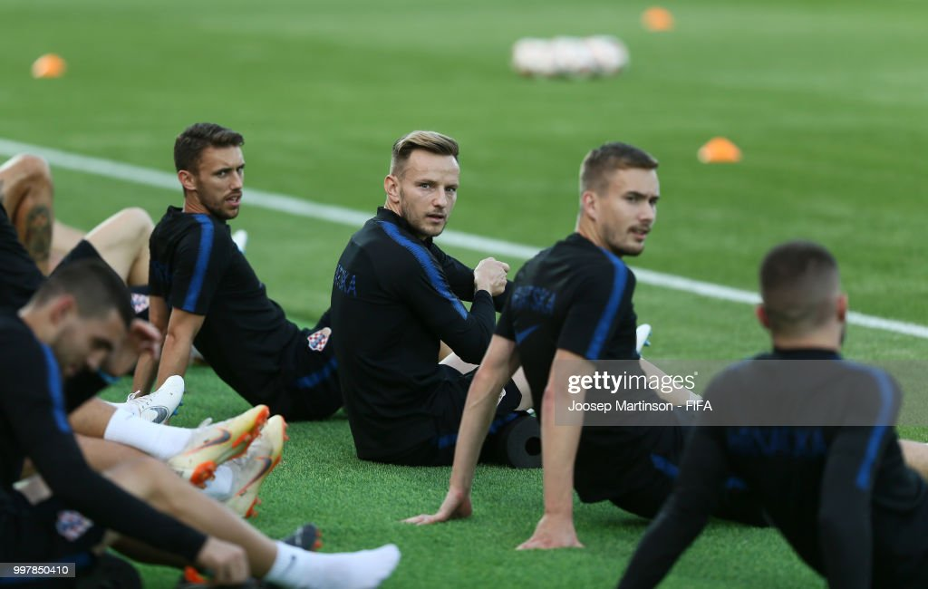 Croatia Press Conference & Training Session - 2018 FIFA World Cup Russia : News Photo