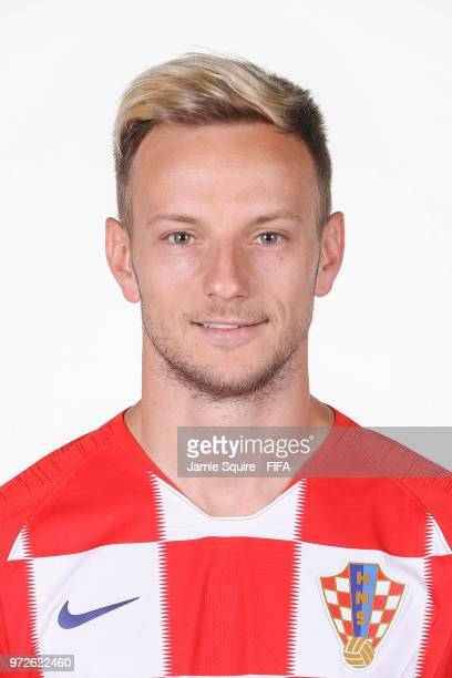 Ivan Rakitic of Croatia poses during the official FIFA World Cup 2018 portrait session at on June 12 2018 in Saint Petersburg Russia