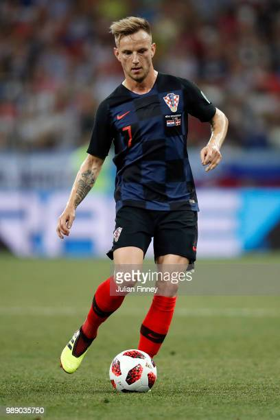 Ivan Rakitic of Croatia runs with the ball during the 2018 FIFA World Cup Russia Round of 16 match between Croatia and Denmark at Nizhny Novgorod...
