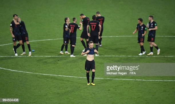 Ivan Rakitic of Croatia steps up to take the winning penalty during the 2018 FIFA World Cup Russia Quarter Final match between Winner Game 51 and...
