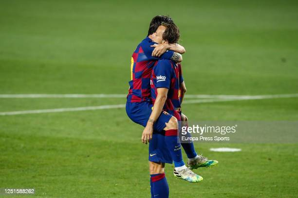 Ivan Rakitic of FC Barcelona celebrates a goal during the spanish league, LaLiga, football match played between FC Barcelona and Athletic Club de...