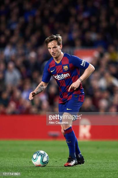Ivan Rakitic of FC Barcelona conducts the ball during the Liga match between FC Barcelona and Real Sociedad at Camp Nou on March 07 2020 in Barcelona...