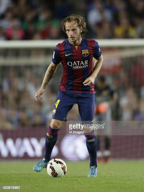 Ivan Rakitic of FC Barcelona during the Joan Gamper Trophy match between FC Barcelona and Leon FC at Camp Nou on august 18 2014 in Barcelona Spain