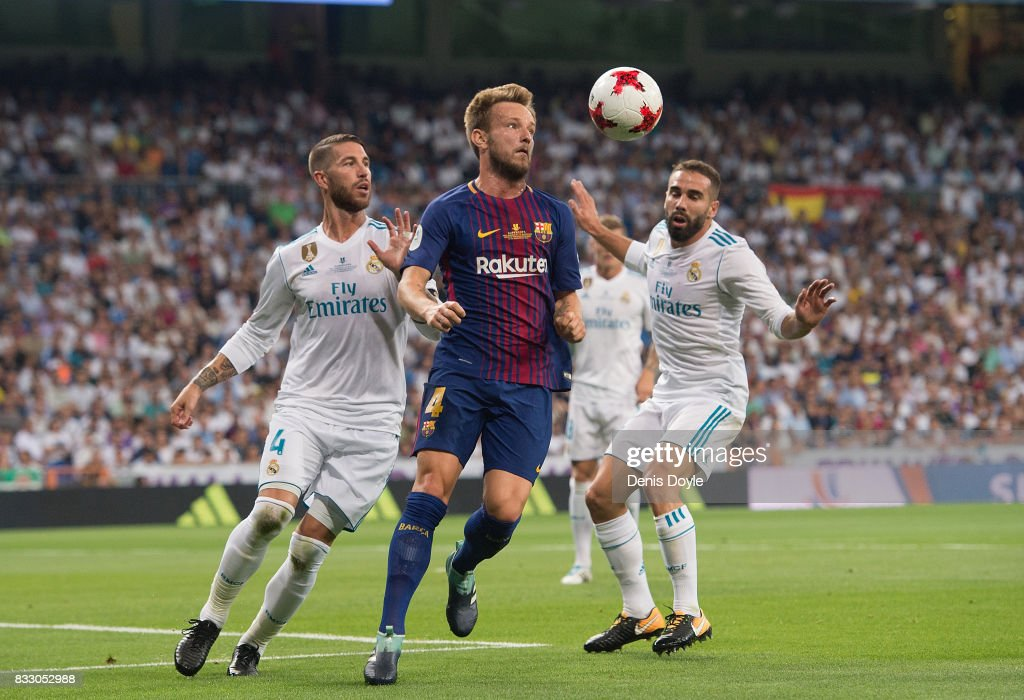 Real Madrid v FC Barcelona - Supercopa de Espana: 2nd Leg : News Photo