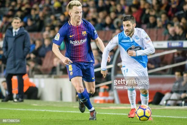 Ivan Rakitic of FC Barcelona in action against Federico Valverde Dipetta of RC Deportivo La Coruna during the La Liga 201718 match between FC...