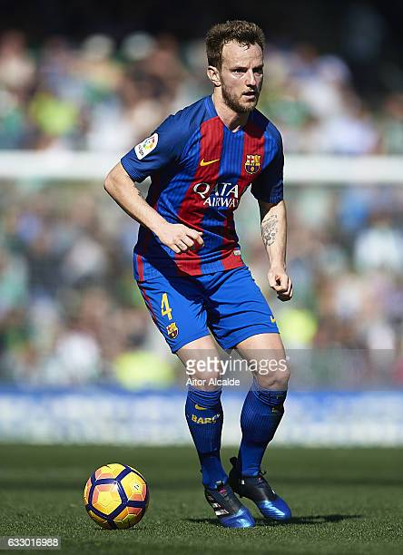 Ivan Rakitic of FC Barcelona in action during La Liga match between Real Betis Balompie and FC Barcelona at Benito Villamarin Stadium on January 29...