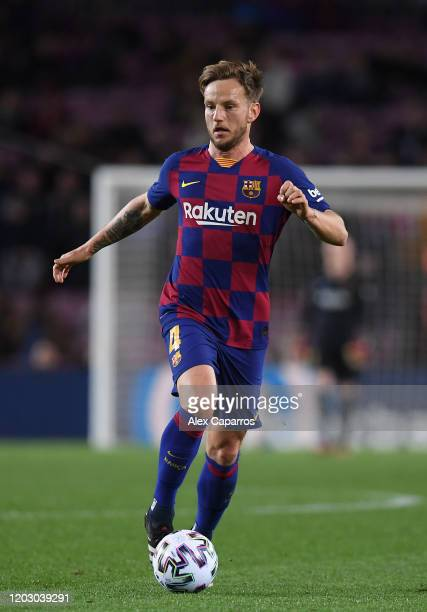 Ivan Rakitic of FC Barcelona in action during the Copa del Rey Round of 16 match between FC Barcelona and CD Leganes at Camp Nou on January 30 2020...