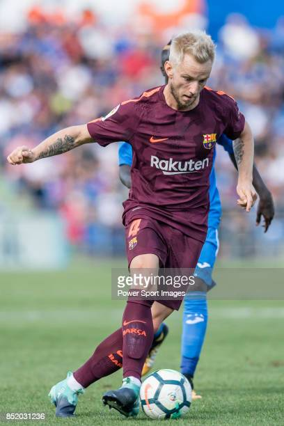 Ivan Rakitic of FC Barcelona in action during the La Liga 201718 match between Getafe CF and FC Barcelona at Coliseum Alfonso Perez on 16 September...