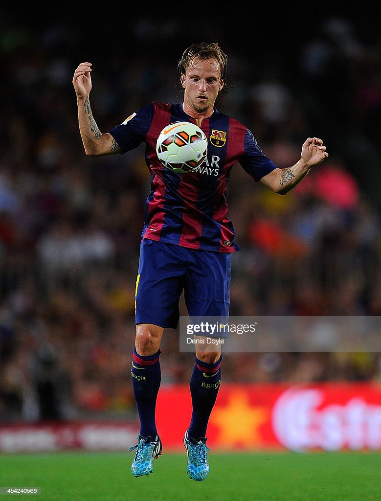 Ivan Rakitic of FC Barcelona in action during the La Liga match between FC Barcelona and Elche FC at Camp Nou stadium on August 24, 2014 in Barcelona, Spain.